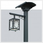 Oriental Solar Light Lamp Post